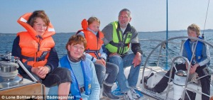 Johanson family on S/V ING