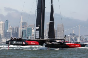Boat 2 First Sail / SFO April Testing Session / ORACLE TEAM USA / San Francisco (USA) / 24-04-2013. Photo: Guilain GRENIER/AC34