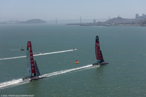 San Francisco (USA,CA) - 34th America's Cup - Louis Vuitton Cup - Round Robin - Race Day 4 - Luna Rossa vs ETNZ. Photo: Giles Martin-Raget/ACEA