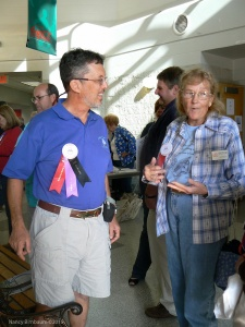 Ginny with SSCA Director Steve Leeds at the 2007 Gam in Melbourne, Florida.